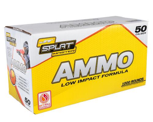JT SplatMaster 1000ct Ammo Box - Orange Fill