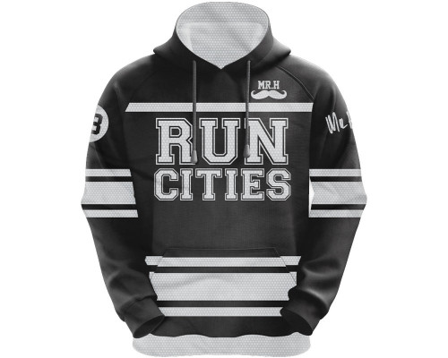 HK Army Hooded Pullover Sweatshirt - Run Cities