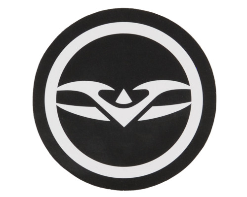 Paintball Sticker - Valken Round Logo (Black/White)