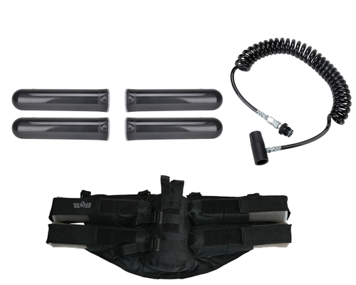 Paintball Online Player's Kit - 4+1 Harness, Remote Line