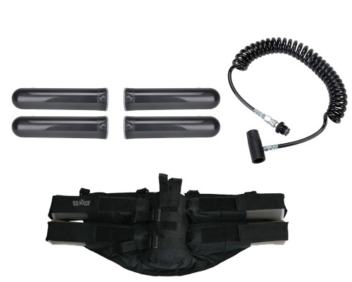 Paintball Online Player's Kit - 4+1 Harness, On/Off Remote Line