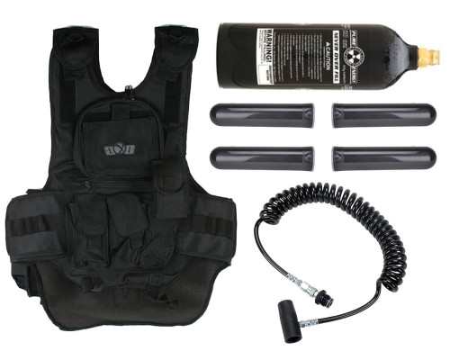 Gen X Global Deluxe Tactical Paintball Vest with Remote Line and 20 oz CO2 Tank