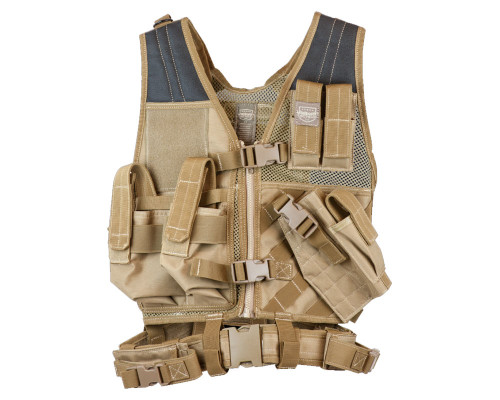 Valken Tactical Airsoft Vest w/ Crossdraw Pistol Holster (Youth)