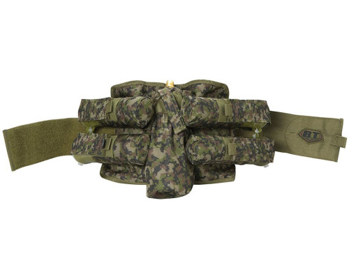 Empire BT Bandolier Paintball Harness - 4+1 Woodland Digital Camo