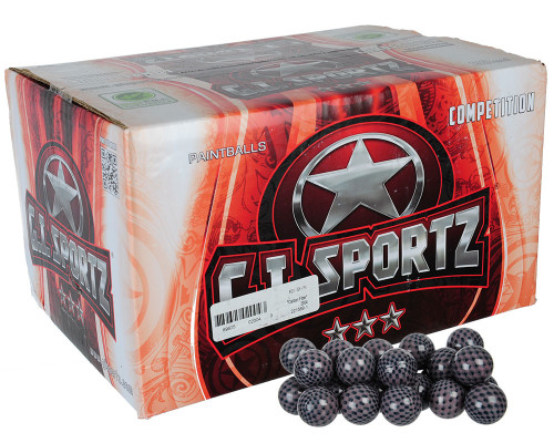 GI Sportz 3 Star Carbon Fibre Paintballs - 100 Rounds