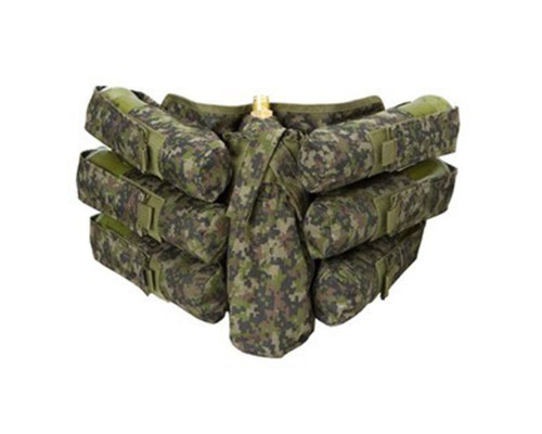 Empire BT Bandolier Paintball Harness - 6+1 Woodland Digital Camo