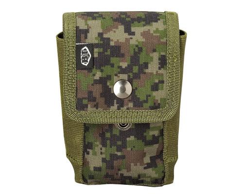 Empire Battle Tested Grenade Pouch w/ Molle Attachments - Woodland Digi