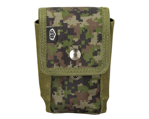 Empire Battle Tested Grenade Pouch w/ Molle Attachments - Woodland Digi