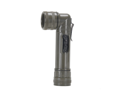 Military Style Angled Flashlight - Olive Drab