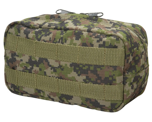 Empire Battle Tested Zipper Pouch w/ Molle Attachments - Woodland Digi