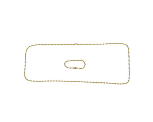 Paintball Online Dog Tag Chain Only - Brass
