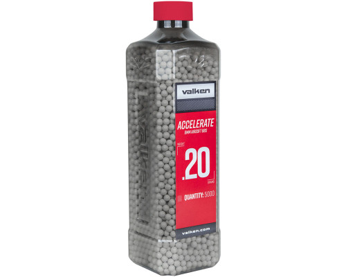 .20g Airsoft BB's - 2500 Count - Valken Accelerate (White) (93344)