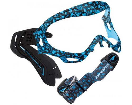 Proto Axis Pro Goggle Accent Kit - Hollywood Aqua