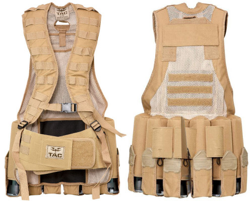 Valken V-Tac Echo Paintball Vest - Tan