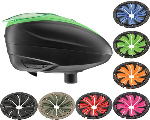 Dye LTR Electronic Hopper w/ 6.0 Quick Feed - Black/Lime