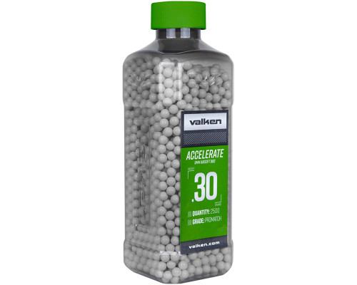 .30g Airsoft BB's - 2500 Count - Valken Accelerate (White) (93474)