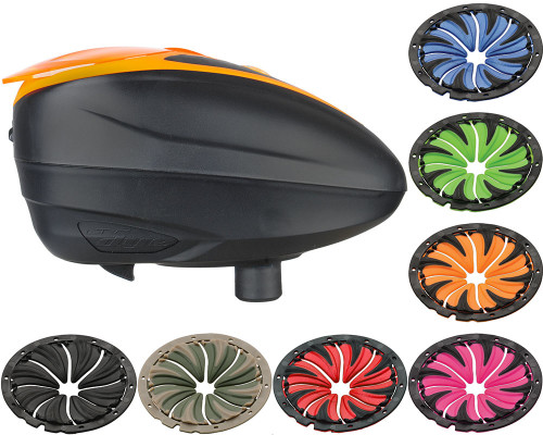 Dye LTR Electronic Hopper w/ 6.0 Quick Feed - Black/Orange
