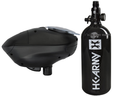 HK Army Paintball 48 ci 3000 psi Aluminum HPA Tank System w/ HK Army Pinokio Speed Hopper