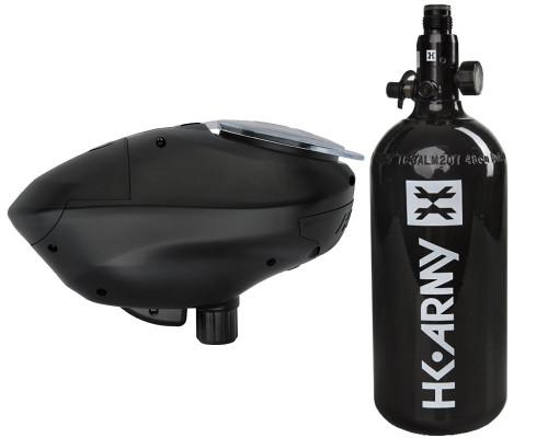 HK Army Paintball 48 ci 3000 psi Aluminum HPA Tank System w/ HK Army Pinokio Speed Hopper