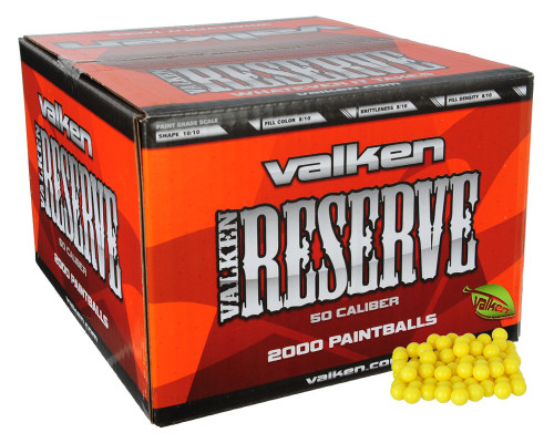 Valken Reserve .50 Caliber Paintballs - 2000 Count