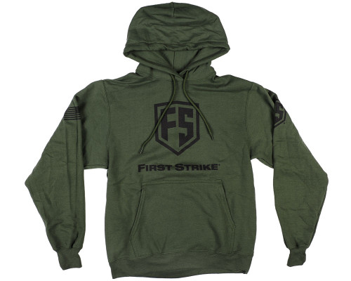 First Strike Hooded Pull Over Sweatshirt - Shield