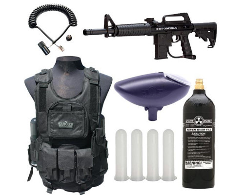 Empire Battle Tested Omega Woodsball Paintball Starter Kit