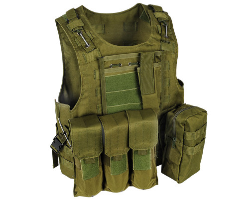 Warrior Tactical Paintball Molle Vest w/ Attachments