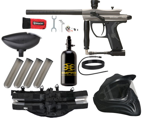Legendary Paintball Gun Package Kit - Kingman Spyder Fenix