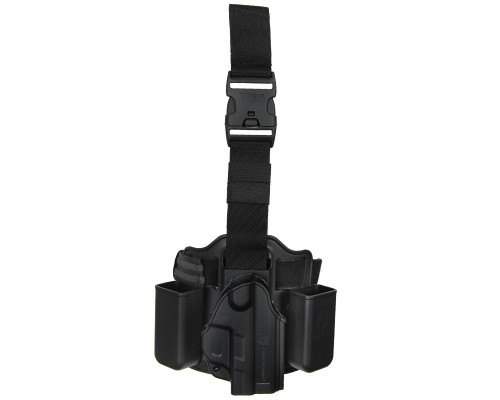 First Strike Deluxe Compact Pistol Rig w/ Holster -  Drop Leg (Black)