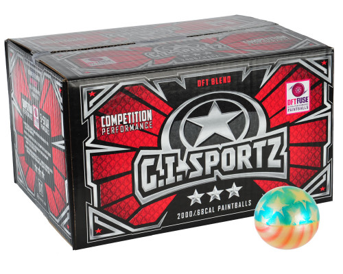 GI Sportz American Flag Paintballs - 1,000 Rounds