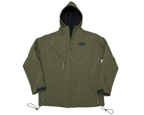 BT ZE Soft Shell Hooded Jacket - Olive
