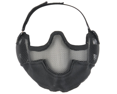 Bravo Lower Half Face Mesh Airsoft Masks w/Ear Protection