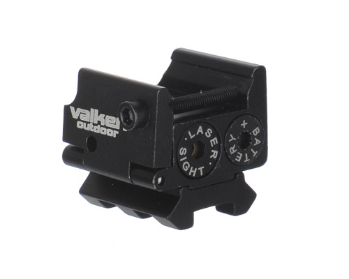 Valken Red Laser w/ Dual Weaver Mini Mount For Pistols (81433)