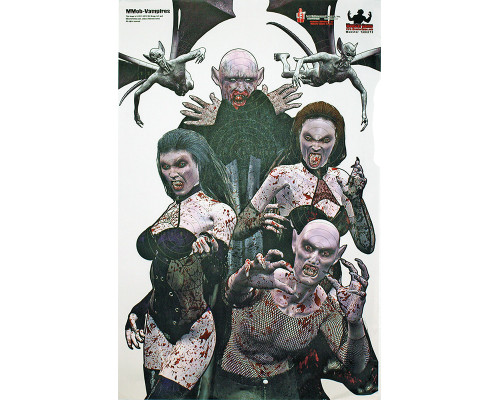 "Vampire Attack Splattering Monster Practice Target 23"" x 35"" - 3 Pack"