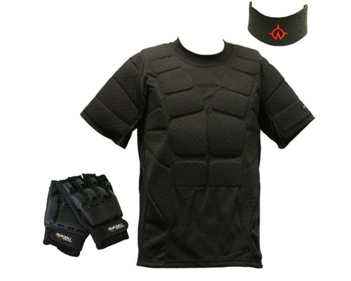 CORE Padded Shirt Gloves and Neck Protector Package