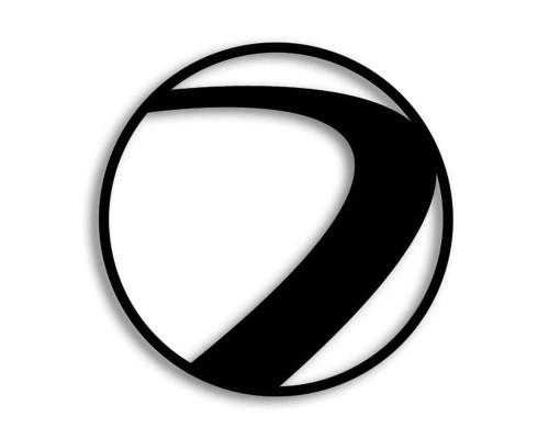Paintball Sticker - Dye Logo (Black)