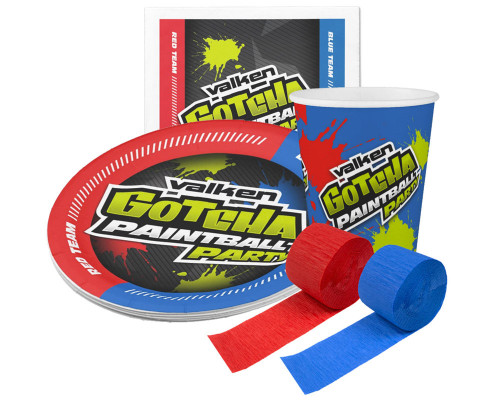 Valken Gotcha Party Kit - 10 Plates, 10 Cups & 20 Napkins