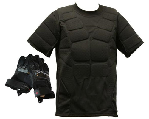 CORE Padded Shirt and Full Finger Tactical Glove Package