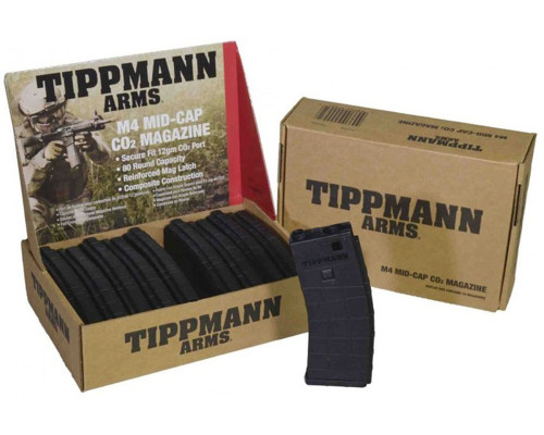 Tippmann M4 Replacement Part #T550003 - Mid-Cap Co2 80 Round Magazine (10 Pack)