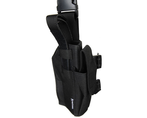 First Strike/Tiberius Arms 8.1 Deluxe Right Hand Pistol Holster -  Drop Leg (Black)