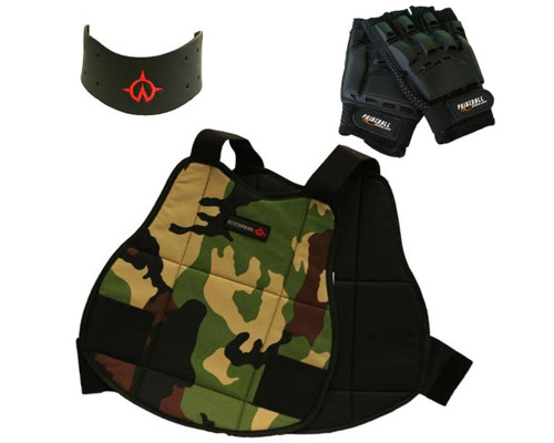 CORE Chest Protector Half Finger Gloves and Neck Protector