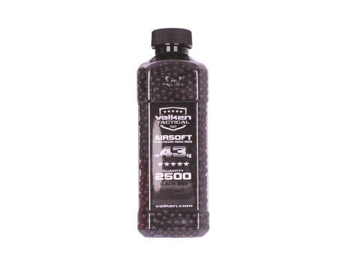 .43g Airsoft BB's - 2500 Count - Valken Tactical (Black)