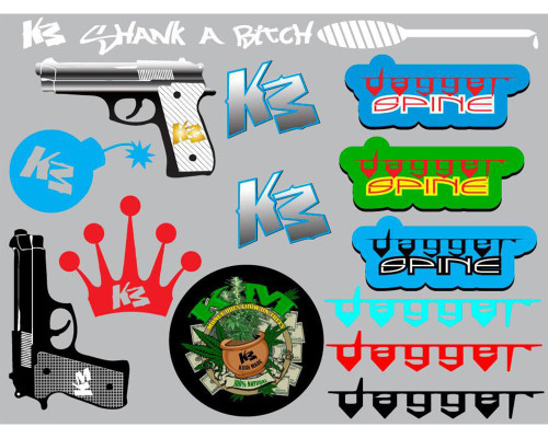Paintball Sticker Sheet - KM