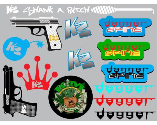 Paintball Sticker Sheet - KM