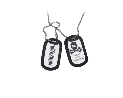 """HK Army """"Ride or Collide"""" Dog Tags"""