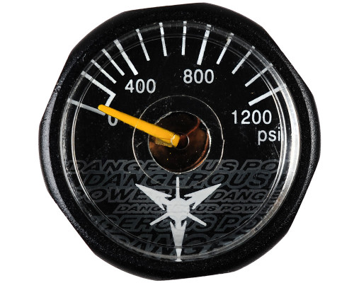 Dangerous Power Marker Gauge - 1200 PSI (Black)
