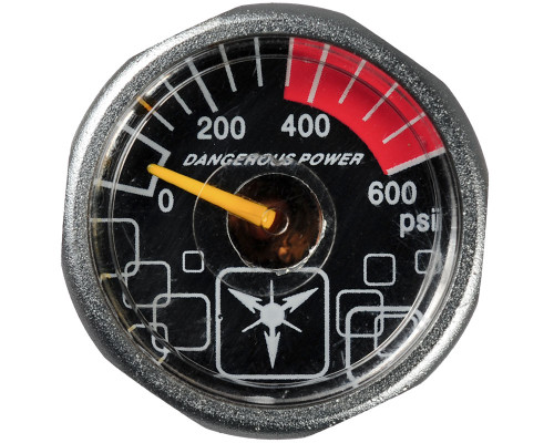 Dangerous Power Marker Gauge - 600 PSI (Grey)