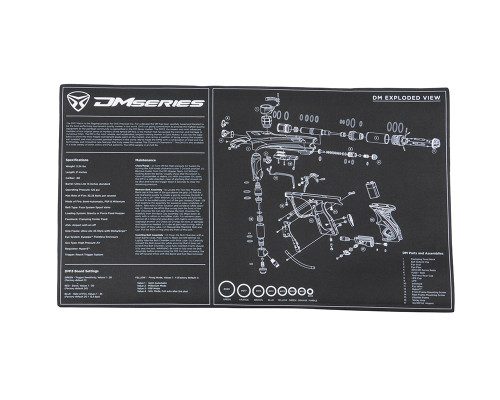 Dye Paintball Tech Mat w/ DM13 Diagram
