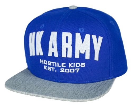 HK Army Snap Back Casual Hat - Varsity