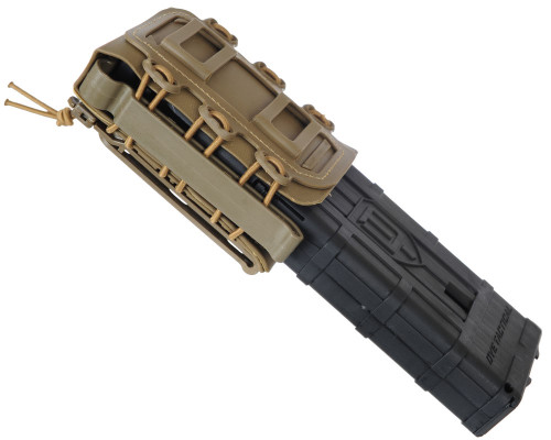 Warrior Molle Vest Attachment - Pull Down Magazine Pouch - DAM/Planet MG100